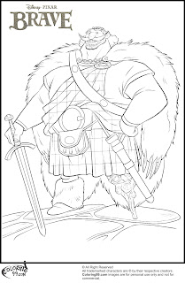 disney brave king fergus coloring pages