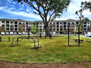 Haven at Midtown outdoor fitness equipment amenity