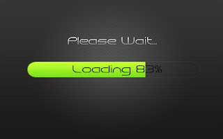 Please Wait Cool Green Loading HD Wallpaper