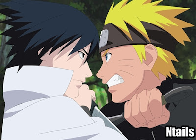 Luta final de Naruto vs Sasuke - Kurama vs Susanoo