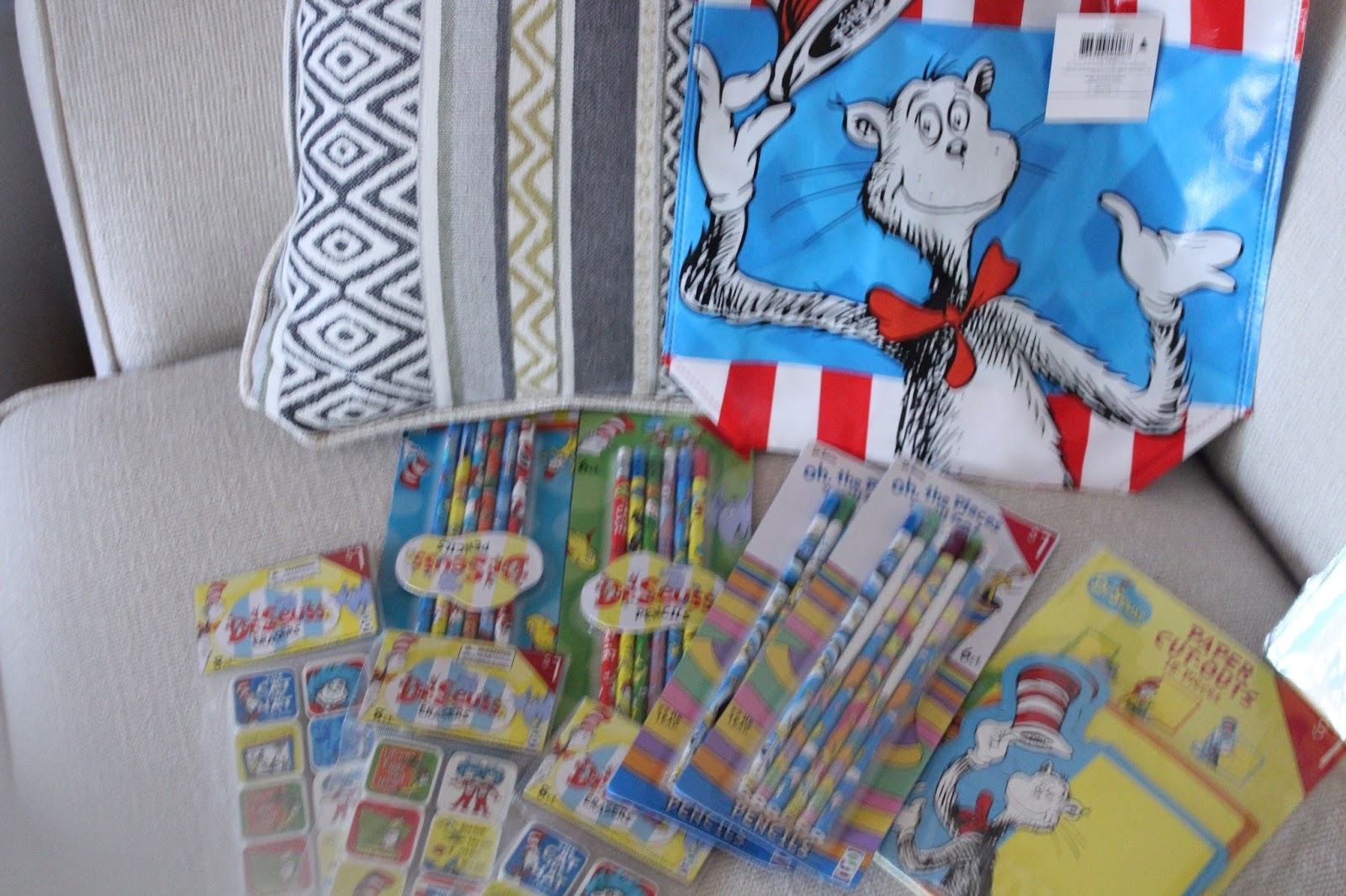 Marvelous Dr Seuss Pencils and Erasers from the Target dollar bins