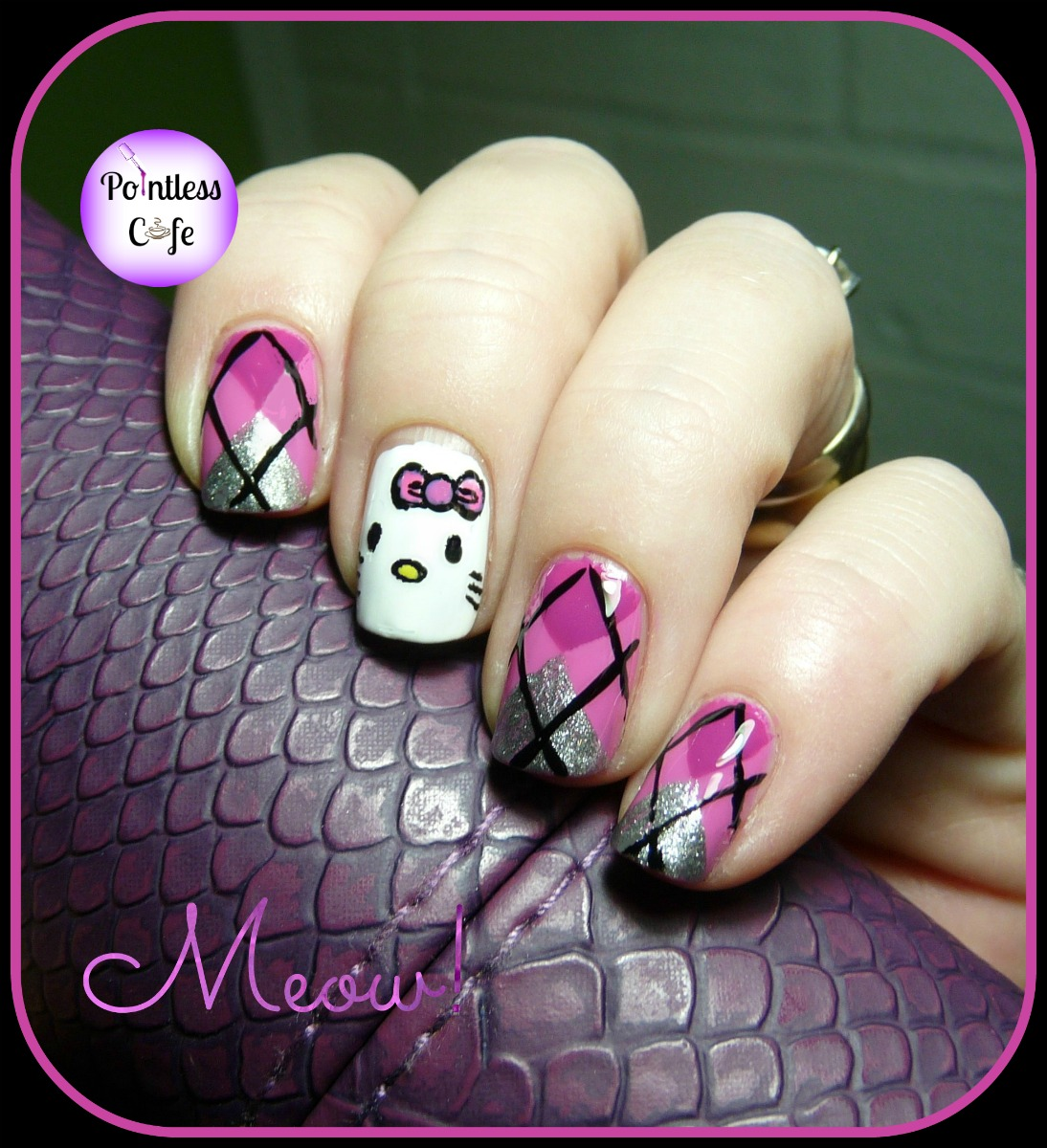 December Nail Art Theme Week - Day 5 - Hello Kitty and Argyle ...