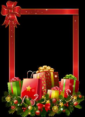 marco de regalos de navidad
