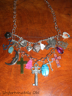 handmade charms necklace