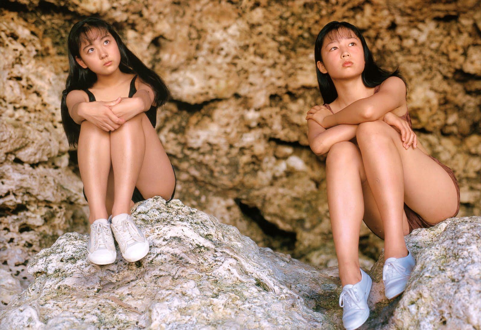 yoko mitsuya and saori nara sexy swimsuit teens photos 04