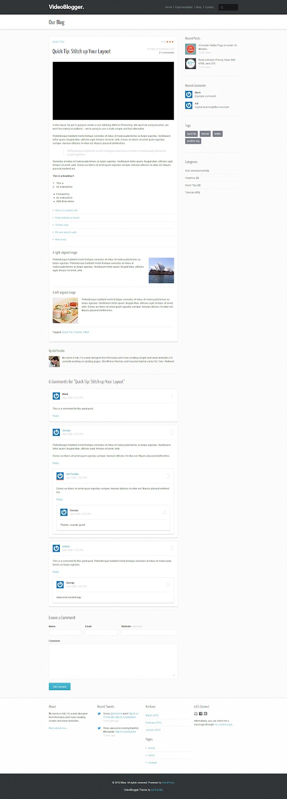 VideoBlogger-HTML-Video-Blog-Templates