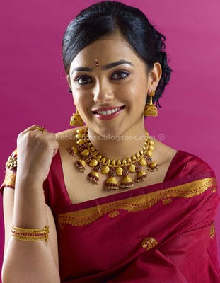 Nithya menon latest in saree