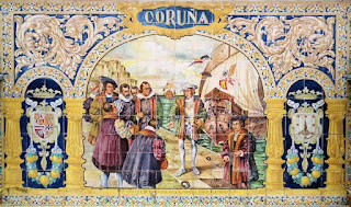 Plaza de España, Sevilla - Azulejo de La Coruña (Motivo Central)