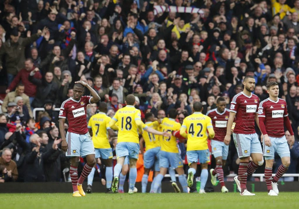 Premier League Football Hammers Eagles Sam Allardyce