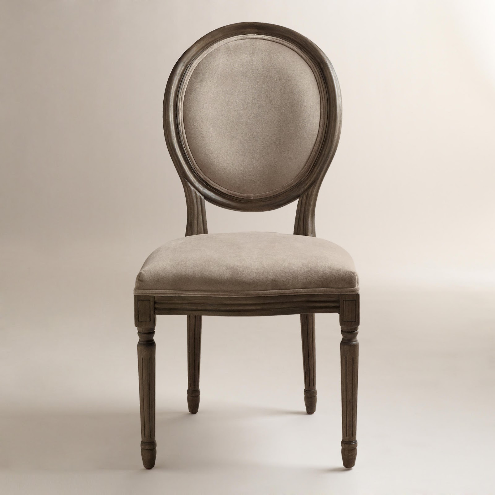 Restoration Hardware Vintage French Round Upholstered Side Chair Decor Look