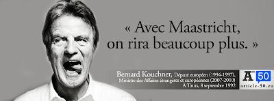 Kouchner : avec Maastricht on rira beaucoup plus