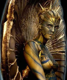 gold body paint