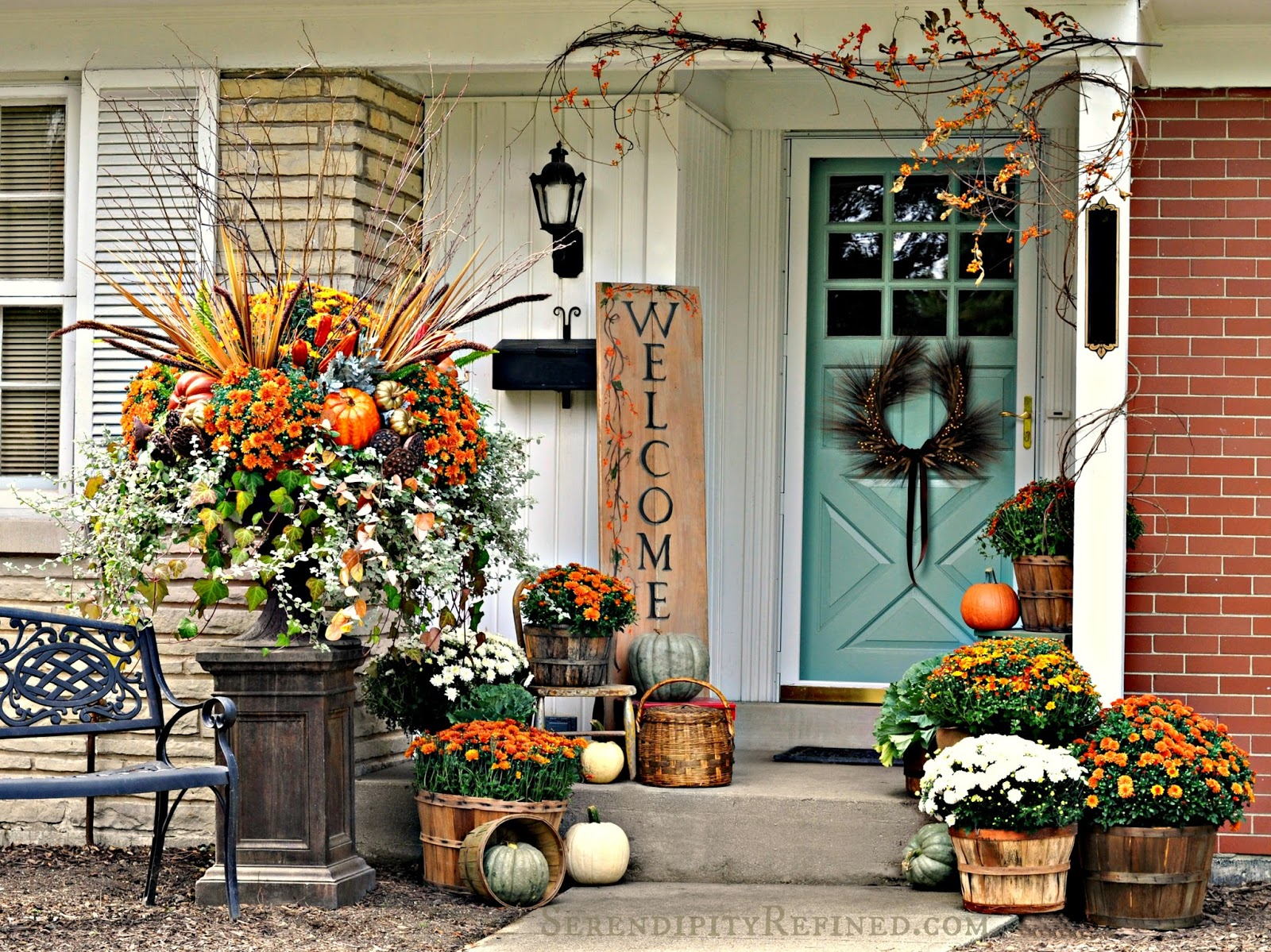 From my front porch to yours falling for fall porch party Beautiful fall front porches