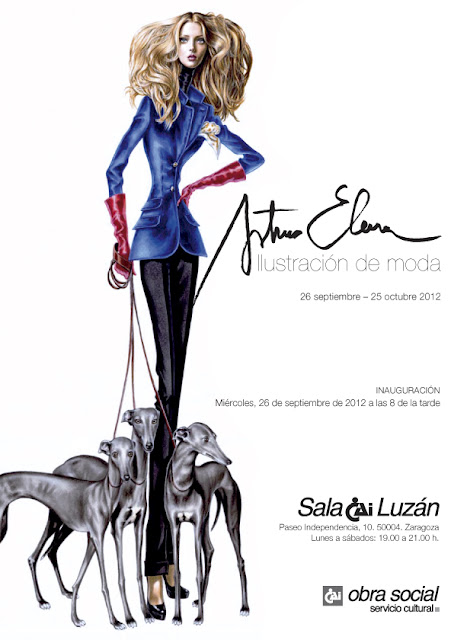 exposicion ilustracion moda arturo elena