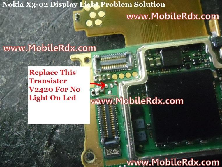 Nokia X3-02 Display Light Problem Solution