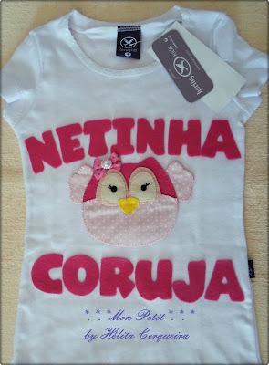 aplicações-customização-em camisas-coruja-em feltro-netinha coruja