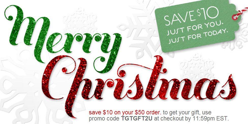 Target Addict: Target\'s ten-dollar Christmas coupon