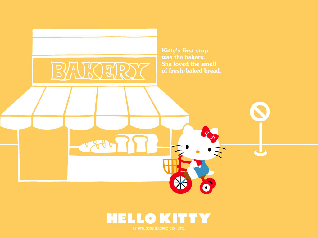 Must see Wallpaper Hello Kitty Orange - hello-kitty-bakery-wallpaper-with-orange-background  Pictures_672210.jpg