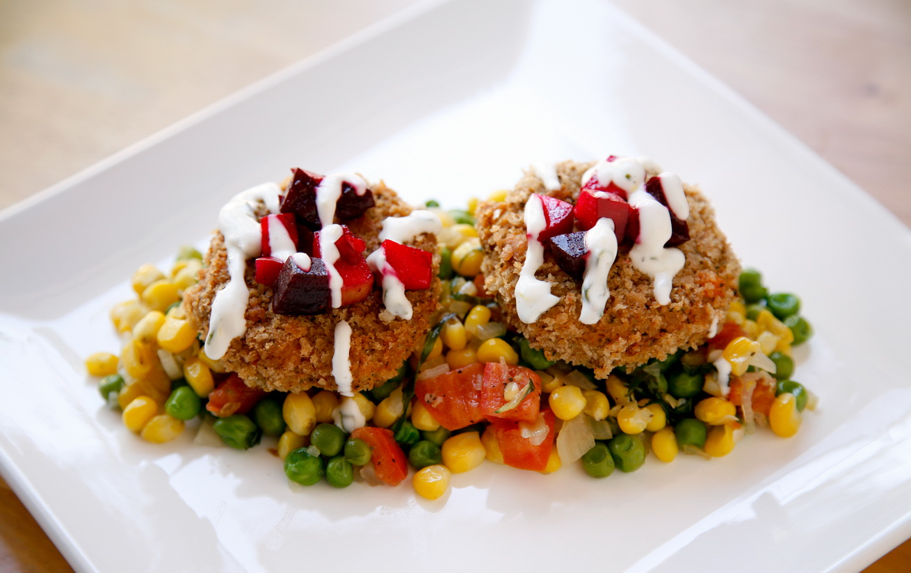 "go vegan meow!: Tofu ""Crab"" Cakes with Lemon Aioli Sauce"