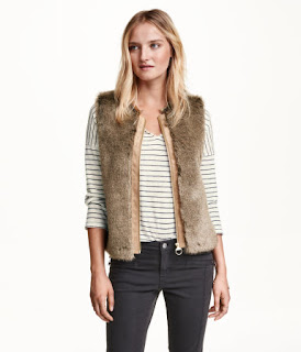 H&M Faux Fur Waist Coat