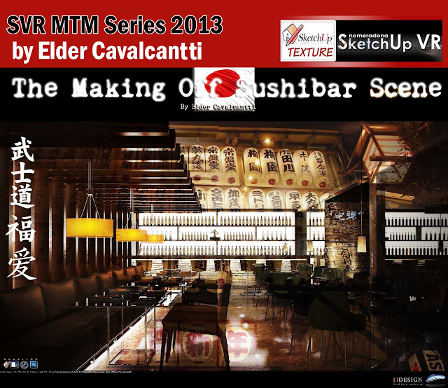 tutorial vray for sketchup making sushibar and Visopt