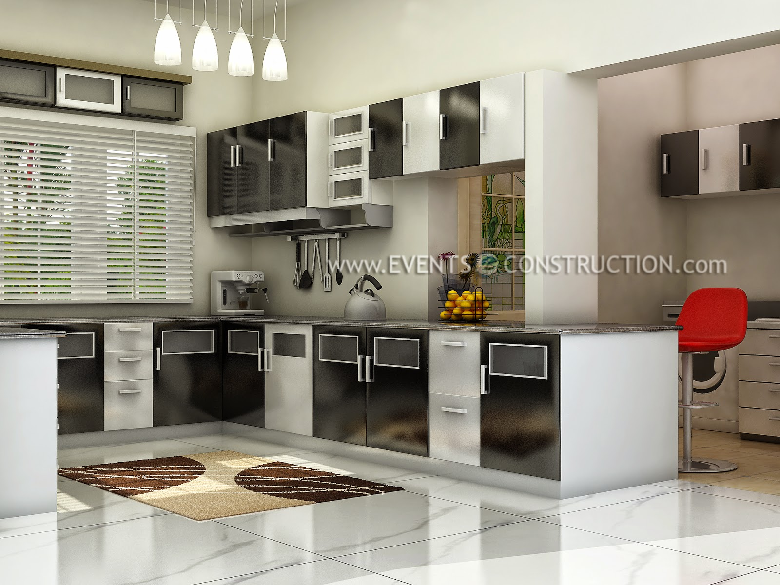 Evens Construction Pvt Ltd Kerala Kitchen Interior Design