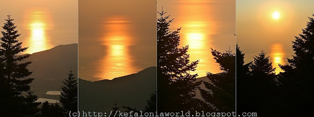 Sunrise seen from Mt. Aenos, Kefalonia
