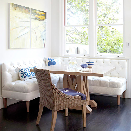 Breakfast nook table breakfast nook ideas kitchen white elegant - Kitchen corner nooks ...