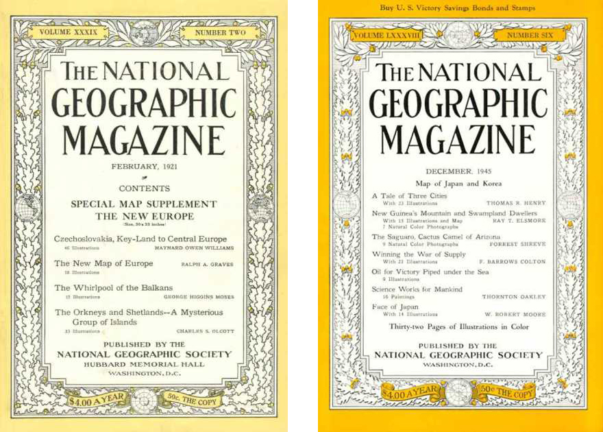 Everywhere Art The 125 Year Cover Evolution Of National Geographic