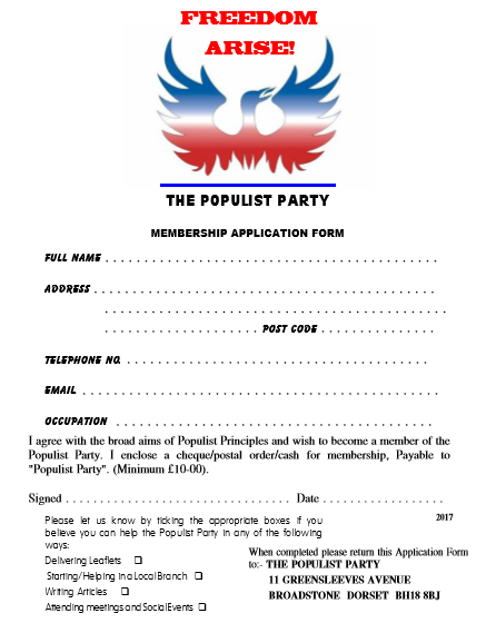 Populist Party - join today.