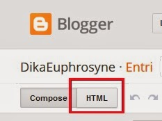 Memilih Halaman HTML di Dalam Postingan Blog