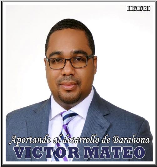 VICTOR MATEO, JOVEN DIRIGENTE DEL PLD CONTRIBUYENDO CON EL DESARROLLO DE BARAHONA