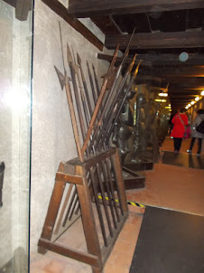 """""""ARMOURY MUSEUM"""" in the """"Golden Lane"""" housing complex of  Prague castle"""