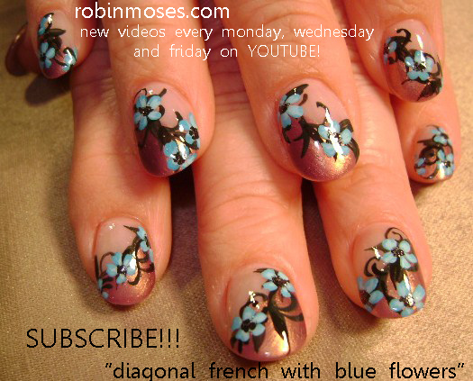 Nail art design blue flower nail art design purple flower nail art nail art design blue flower nail art design purple flower nail art design hippie rainbow flower nail art design pink daisy flower nail art design mightylinksfo