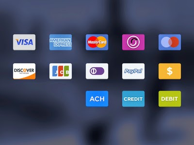 Card Payment Icons PSD