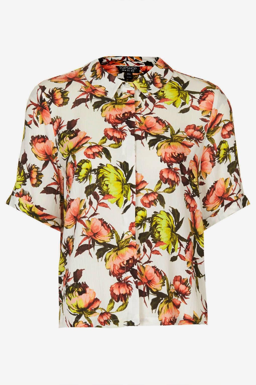 short sleeved floral shirt