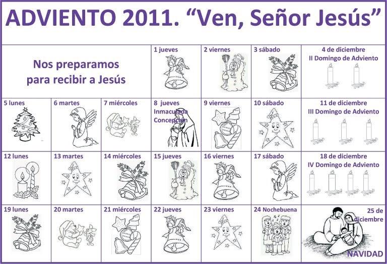 Pastoral familiar archidiocesis de granada calendario de - Que poner en un calendario de adviento ...