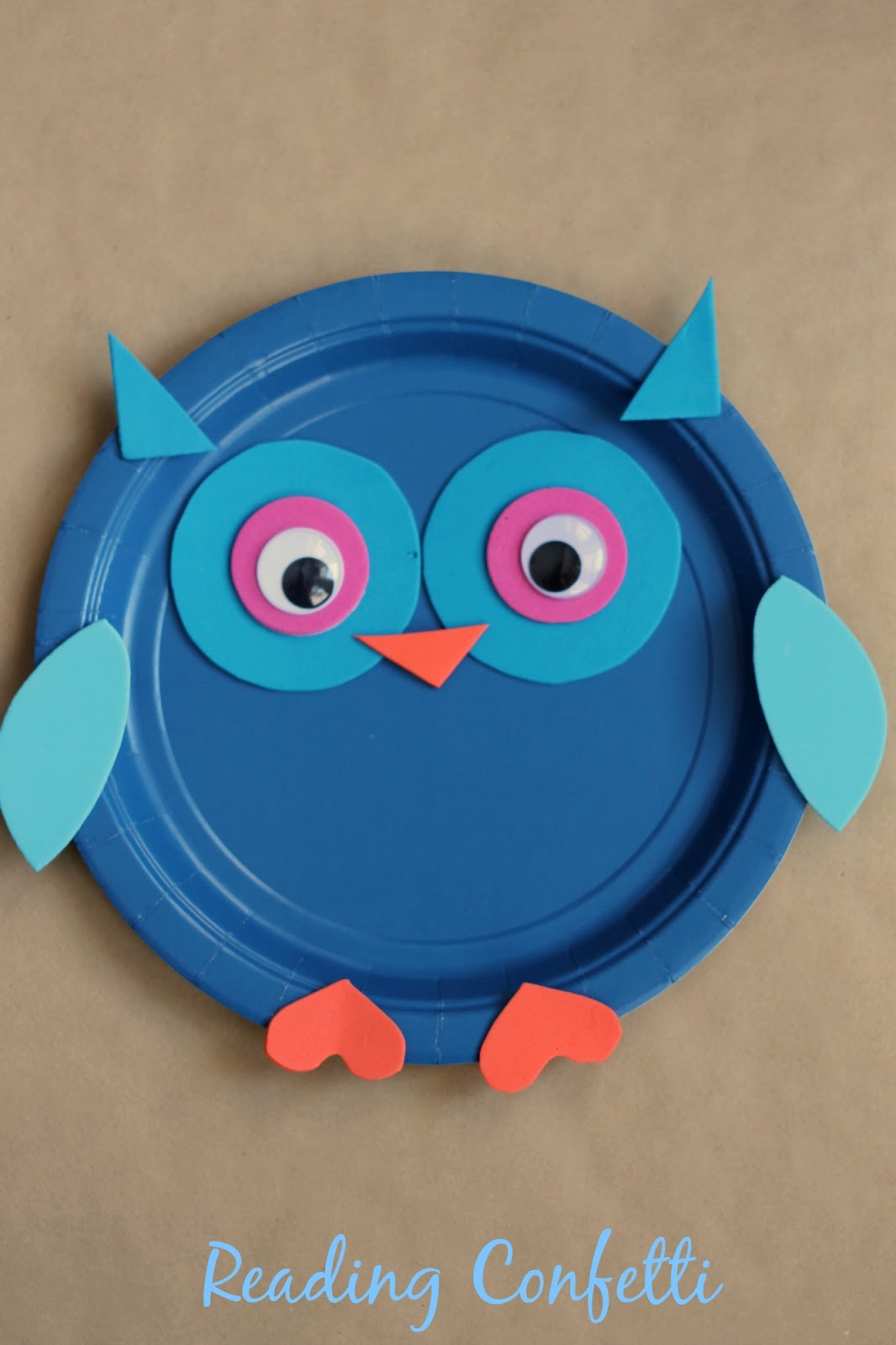 An easy paper plate owl craft