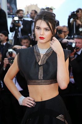Kendall Jenner wearing Azzedine Alaia piece in Youth Premiere at 2015 Cannes Film Festival Red Carpet Dresses