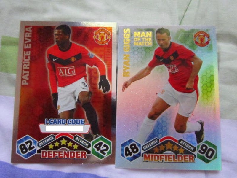 Topps Match Attax Man of the match Star player i-code online game Manchester United Patrice Evra Ryan Giggs Gary Neville Anderson Dimitar Berbatov Michael Owen Edwin Van Der Sar Rafael Darren Fletcher Fabio Darron Gibson Mame Biram Diof Antonio Valencia Sir Alex Ferguson Michael Carrick Gary Neville Club Captain Midfielder Defender Striker Forward Man U Futera Alex Nilmar Diego Robinho Luis Fabiano Robinho Kaka Rivaldo USA Clint Dempsey Star Player card Tim Howard Carlos Bocanegra Freddy Adu  Michael Bradley England Wayne Rooney John Terry Rio Fernando Golden Moments 100 Club Star Player Man of the Match FIFA World Cup Brazil 2014 Football Soccer Italy Pirlo Cannavaro Montolivo Di Natale Pepe Zambrotta Marchisio Bonera De Rossi Di Natale Panini Adrenalyn XL Prizm  series 4 FWF online World Series Legends Superstars MemoPower Heroes Authograph Physical cards