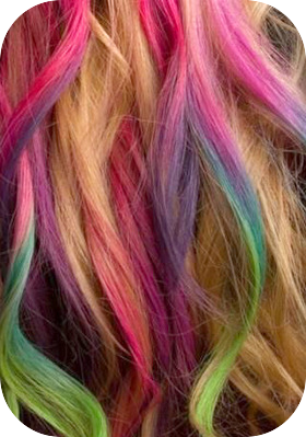 hair chalk close up
