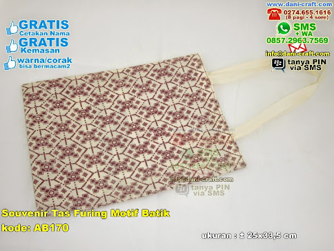 Souvenir Tas Furing Motif Batik