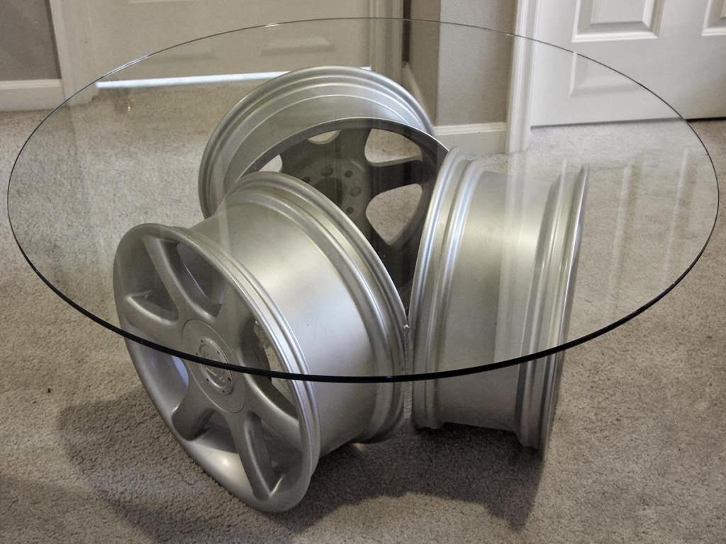 Wheels mania come riciclare cerchi per auto facendoli - Tavolino con sedia per bambini ...