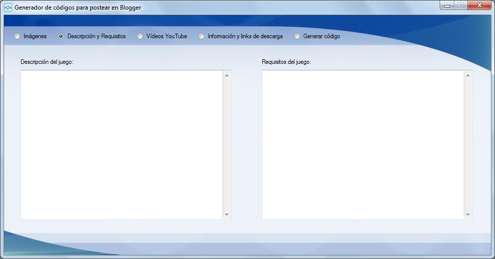 Aplicación Visual Basic .NET Blogger