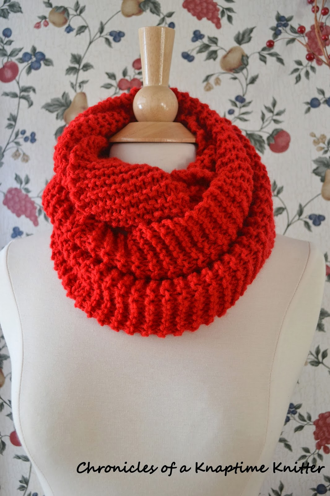 Free Knitting Pattern Basic Knit Infinity Cowl Chronicles Of A