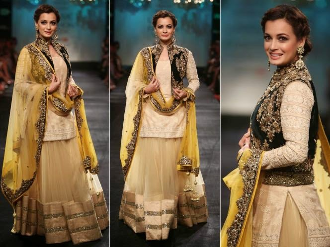 Dia Mirza looking Awesome in Lakme Fashion Week 2014