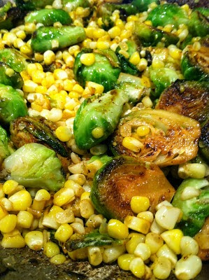 Grilled Brussel Sprouts and Corn Recipe