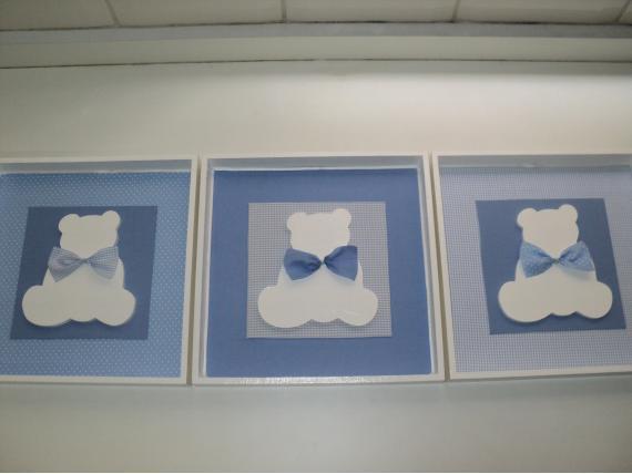Quadro De Urso Para Quarto De Bebe ~ trio de quadros feminino r $ 45 00 trio de quadros decoupage r $ 27 00