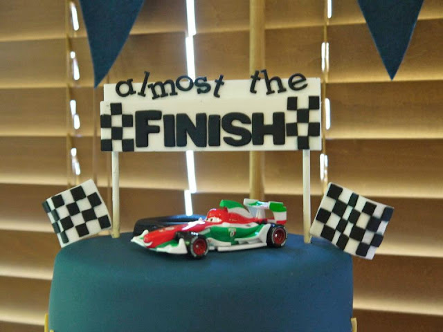 super cute car racing themed baby shower by a touch of style events