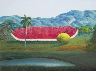 Paisajes Frutas Surrealistas Pinturas
